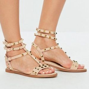 56f767f7283 Missguided Shoes - missguided nude studded sandals